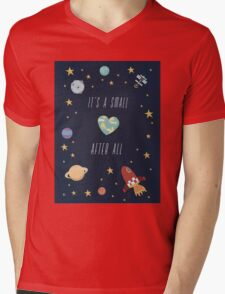 It's a small world after all! Mens V-Neck T-Shirt