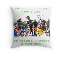 I am a GAMER Throw Pillow
