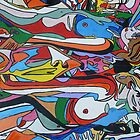 Spin Art 'Psychedelic Smooching Nudes'  by BBBango