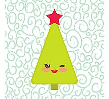 Happy New Year card. Christmas tree  Photographic Print