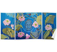 Ripple Effect. Triptych Poster