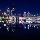 Brisbane City Lights by Peter Doré