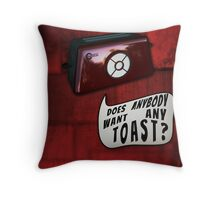 Talkie Toaster Throw Pillow
