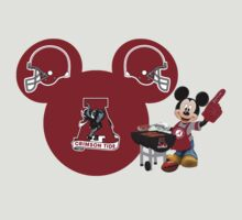 Alabama Crimson Tide Mickey Mouse football fan by sweetsisters