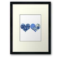 Love is bigger on the inside Framed Print