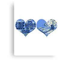 Love is bigger on the inside Canvas Print