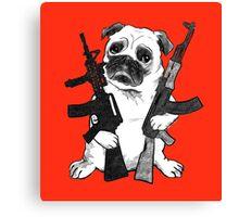 BAD dog – armed pug Canvas Print