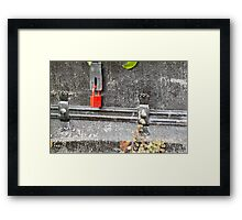 Under lock and key Framed Print