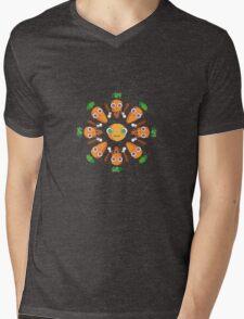 Happy Carrots Dance Mens V-Neck T-Shirt