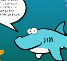 Just OK White Shark Sticker
