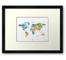 World map nature Framed Print