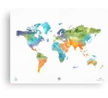 World map nature Canvas Print