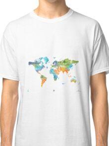 World map nature Classic T-Shirt