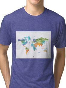 World map nature Tri-blend T-Shirt