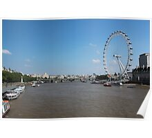 The Thames and the London Eye Poster