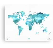 World map eco stream green Canvas Print