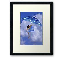 ☁ ☂ UP IN THE CLOUDS -PLZ VIEW POEM  I HAVE JUST WRITTEN HUGS ☁ ☂ Framed Print