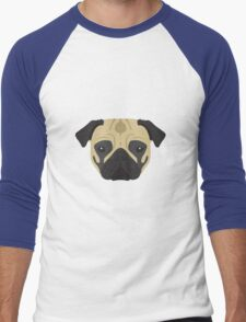Pug Men's Baseball ¾ T-Shirt