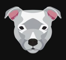 White Staffordshire Bull Terrier Kids Tee