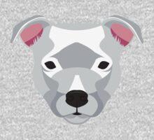 White Staffordshire Bull Terrier Kids Tee
