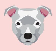 White Staffordshire Bull Terrier One Piece - Long Sleeve