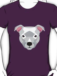 White Staffordshire Bull Terrier T-Shirt