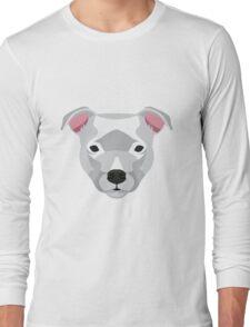 White Staffordshire Bull Terrier Long Sleeve T-Shirt