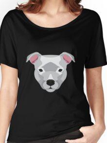 White Staffordshire Bull Terrier Women's Relaxed Fit T-Shirt