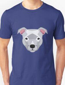 White Staffordshire Bull Terrier Unisex T-Shirt