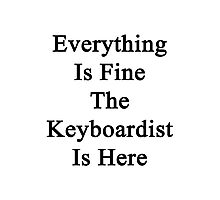 Everything Is Fine The Keyboardist Is Here Photographic Print