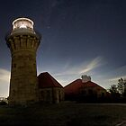 Lighthouse under the stars by Rakuli