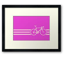 Bike Stripe Pink Framed Print