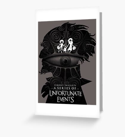 A Series of Unfortunate Events Greeting Card