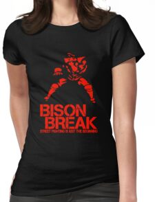 BISON BREAK - red edition Womens Fitted T-Shirt