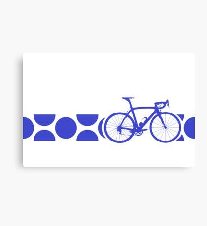 Bike Stripes King of the Mountains (Blue) Canvas Print