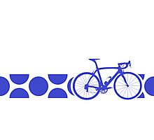 Bike Stripes King of the Mountains (Blue) Photographic Print