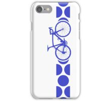 Bike Stripes King of the Mountains (Blue) iPhone Case/Skin