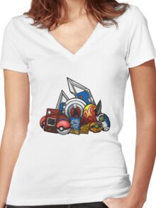 Anime Device Women's Fitted V-Neck T-Shirt