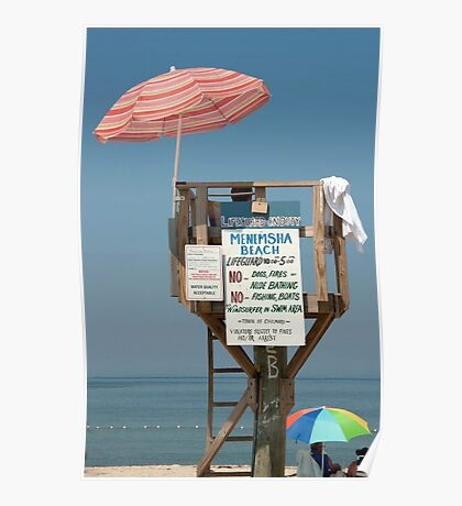 Life Guard On Duty Poster