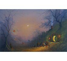 The Pumpkin Seller ( A Hobbits Halloween ). Photographic Print
