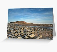 Beach at low water Greeting Card