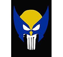 Wolverine Punisher Skull Photographic Print