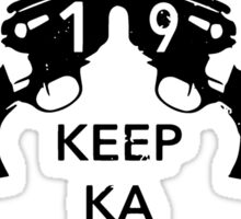 Keep KA - black edition Sticker