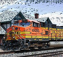 RB_BS_0002 Historic Flagstaff Train Station by raven777