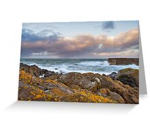 POTSOY HARBOUR - STORM BREWING Greeting Card