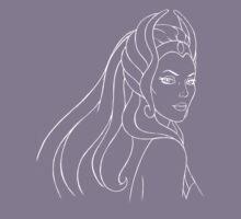 She-Ra Princess of Power (White Line Art) by DGArt
