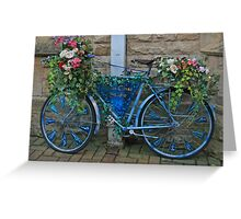 Blue glass bicycle Greeting Card