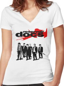 Reservoir Docs Women's Fitted V-Neck T-Shirt