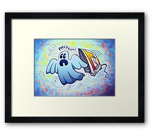 Ghost Ironing Nightmare Framed Print