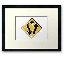 Kangaroo Sign - Urban Grunge Framed Print